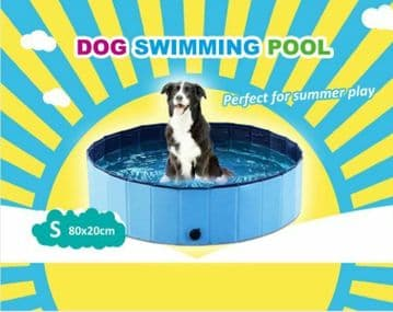 PET DOG FOLDING SWIMMING POOL caravan motorhome animal 160cm x 30cm Small Large